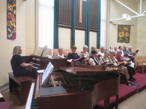 Gail O & choir